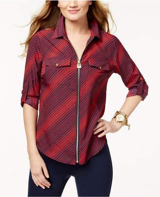 Michael Kors Petite Hardware-Detail Utility Shirt,