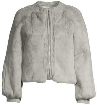 Pologeorgis Rabbit Fur & Knit Jacket