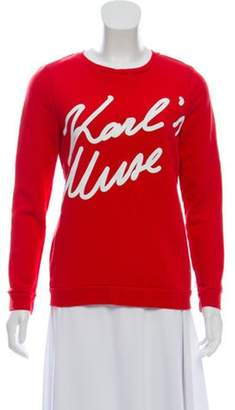 Karl Lagerfeld Paris Knit Patterned Sweatshirt white Knit Patterned Sweatshirt