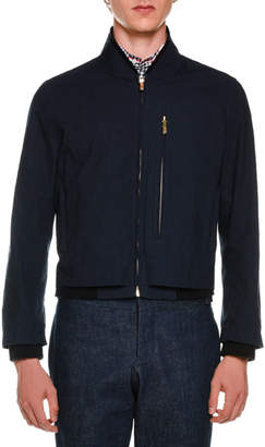 Thom Browne Reversible Ribbed & Check Jacket