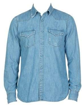 Eleventy Camica Texas Western Button-Down Shirt