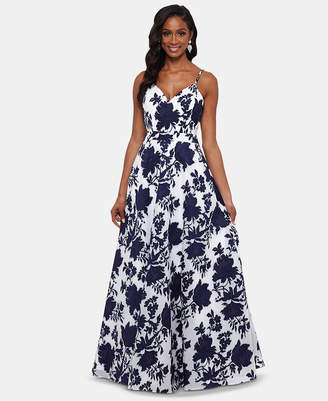 Xscape Evenings Open-Back Embellished Toile Gown