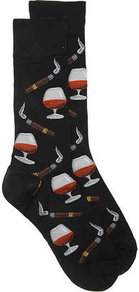 Hot Sox Cognac and Cigars Crew Sock - Men's