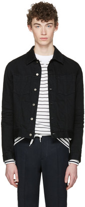 Maison Margiela Black Denim Jacket $970 thestylecure.com