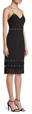 Aidan Mattox Fringe Cocktail Dress