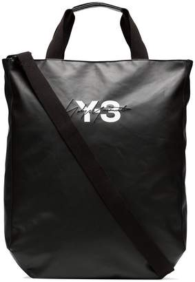 Y-3 black logo tote bag