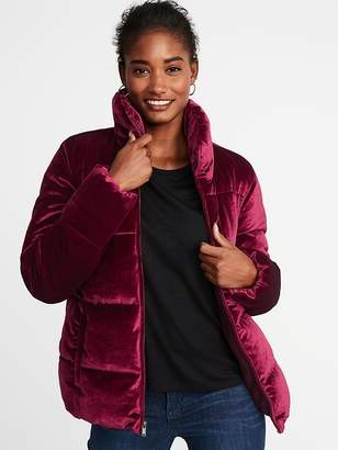 Old Navy Quilted Velvet Jacket for Women
