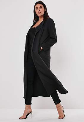 Missguided Plus Size Black Co Ord Duster Jacket