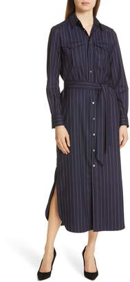 Polo Ralph Lauren Pinstripe Midi Shirtdress
