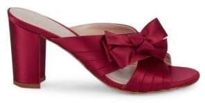 Stuart Weitzman Bow Block Heel Sandals