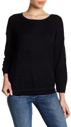 Inhabit Knit Lace Crew Neck Sweater $231 thestylecure.com