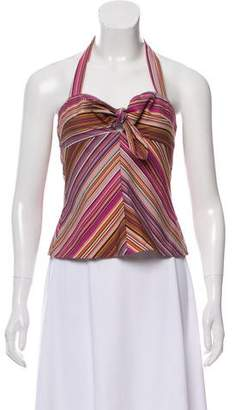 Trina Turk Striped Halter Top