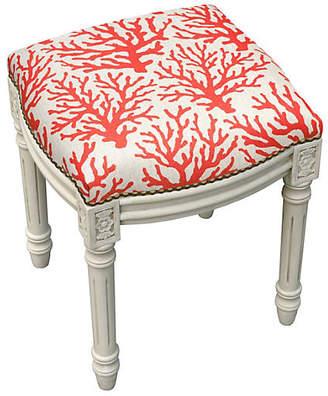 One Kings Lane Kara Stool - Red Mini Coral