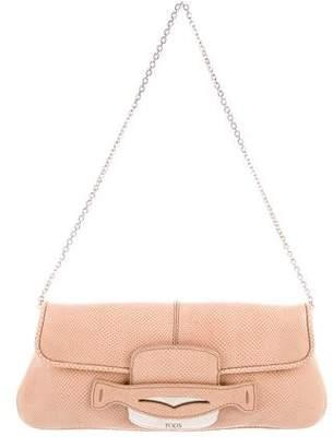 Tod's Embossed Leather Shoulder Bag