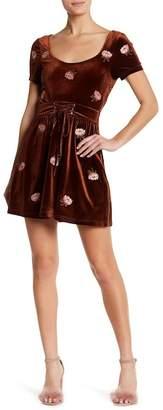 Honeybelle Honey Belle Embroidered Floral Velvet Dress