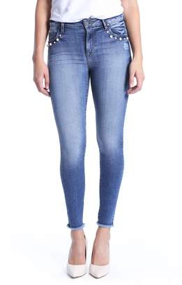 KUT from the Kloth Embellished Ankle Skinny Jeans