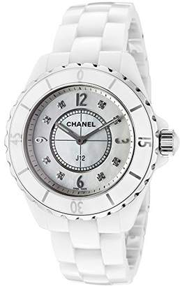 Chanel H3214 Women's J12 Quartz Wrist Watch, White Dial