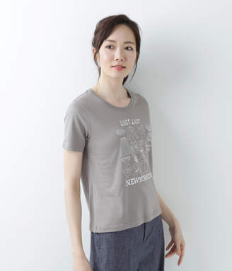 NEWYORKER women's 【アウトレット】コットン天竺 ワードローブプリントTシャツ