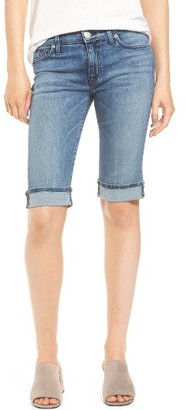 Women's Hudson Jeans Amelia Rolled Knee Shorts $145 thestylecure.com