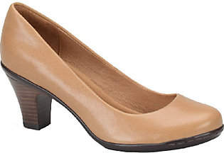 Sofft Round Toe Leather Pumps - Velma