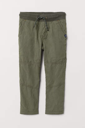 H&M Jersey-lined Pants - Green