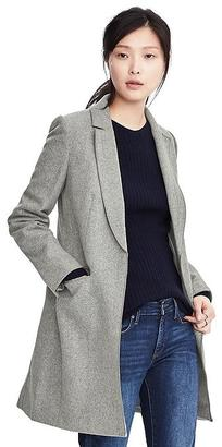 Melton Wool Buttoned Top Coat $298 thestylecure.com