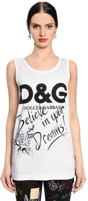 Logo Printed Cotton Jersey Tank Top $195 thestylecure.com