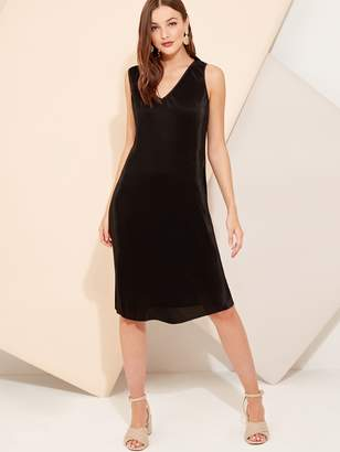 Shein Cut Out Back Pleated Dress