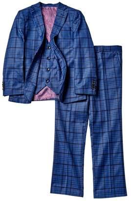 Isaac Mizrahi Plaid 3-Piece Slim Suit (Toddler, Little Boys, & Big Boys)