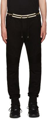 Balmain Black Biker Lounge Pants $1,075 thestylecure.com
