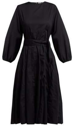 Rhode Resort - Devi Tasselled Belt Cotton Dress - Womens - Black