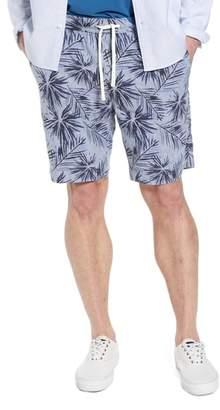 1901 E-Waist Print Linen Blend Shorts