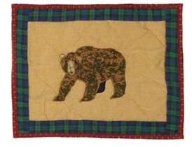 Patch Magic Cabin Bear Crib Cotton Boudoir/Breakfast Pillow Patch Magic