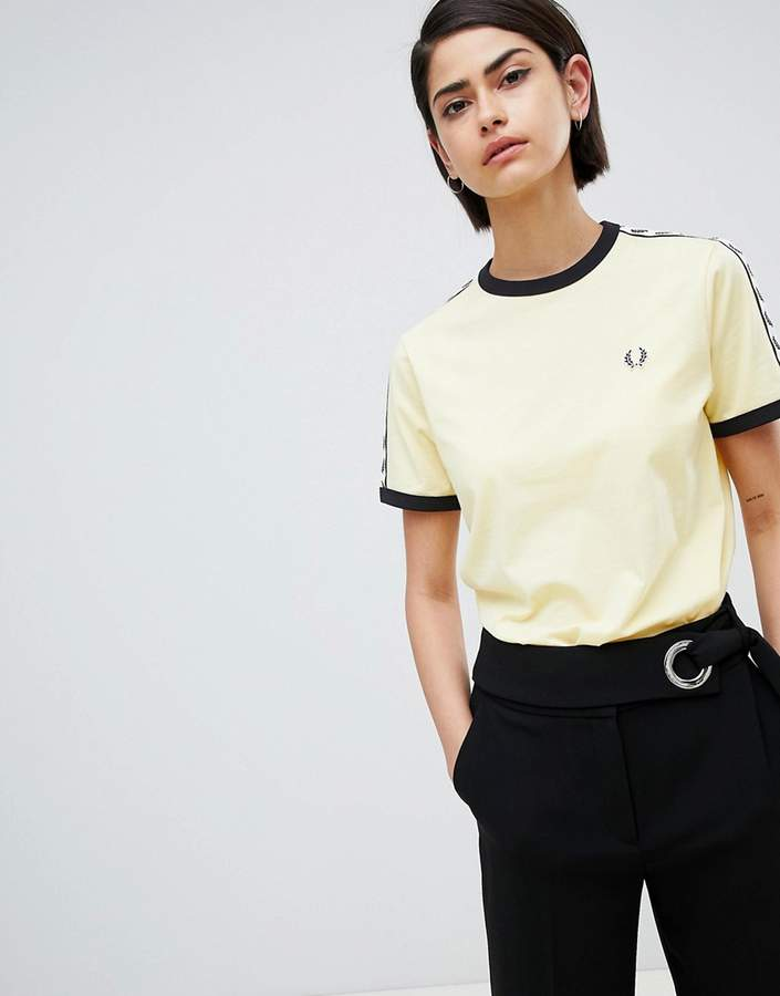 Ringer T-Shirt With Logo Tape