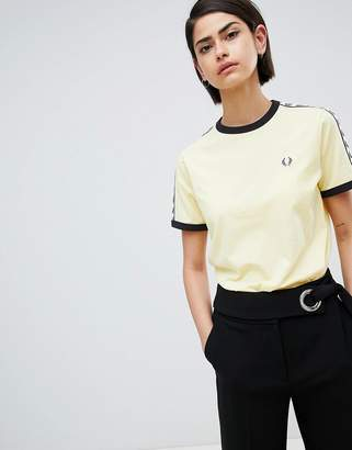 Fred Perry Ringer T-Shirt With Logo Tape