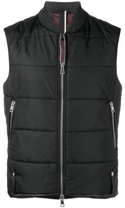 Low Brand quilted zipped jacket