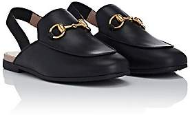 Gucci Kids' Princetown Leather Slippers - Black