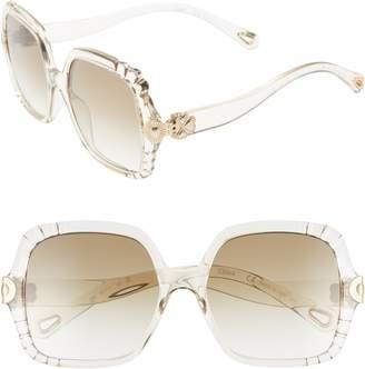 9b40eea9cb0 Chloé White Women s Sunglasses - ShopStyle