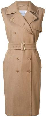 Max Mara sleeveless safari-style dress