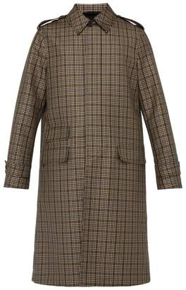 Stella McCartney Checked Single Breasted Wool Blend Overcoat - Mens - Beige