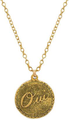 Natalie B Oui Charm Necklace