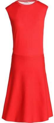 Nina Ricci Tulle-Paneled Wool And Silk-Blend Dress