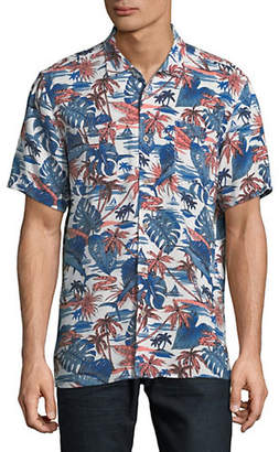 Black Brown 1826 Short Sleeve Hawaiian Print Shirt