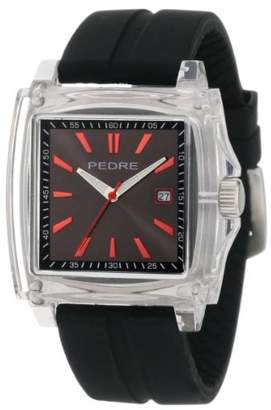 Pedre Men's 0570CRX Sport Clear Plastic Rubber Strap Watch