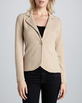 Neiman Marcus Cashmere Long-Sleeve Blazer, Women's