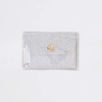 River Island Womens White glitter perspex coin purse