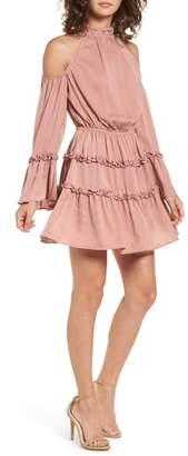 The Fifth Label Banjo Ruffle Cold Shoulder Dress