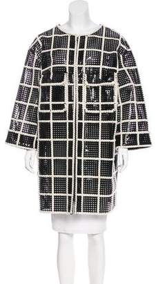 Chanel Laser Cut Vegan Leather Coat