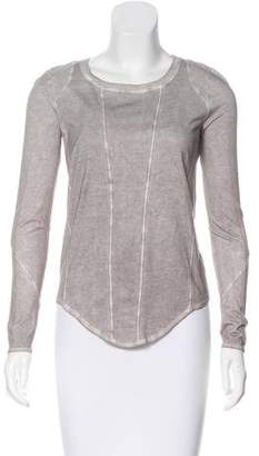 Helmut Lang HELMUT Scoop Neck Long Sleeve Top