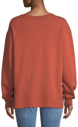 Velvet Heart Micheline Tie-Side Sweatshirt